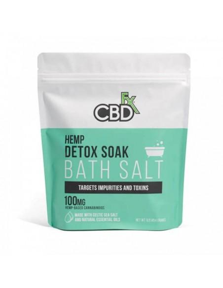 CBDfx Topical CBD Bath Salt Detox 100mg 1pcs:0 US