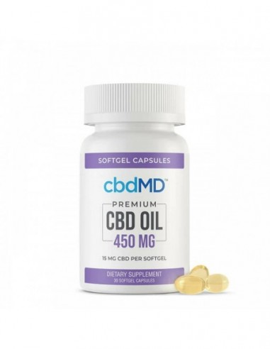 cbdMD Capsules CBD Softgels 30 Count 450mg 1pcs:0 US