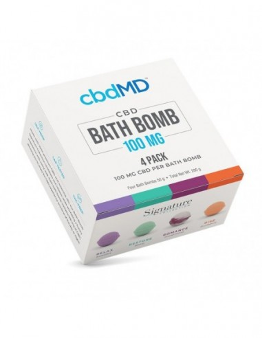 cbdMD CBD Bath Bombs 4 Pack(Relax  Romance  Rise  Restore) 1pcs:0 US