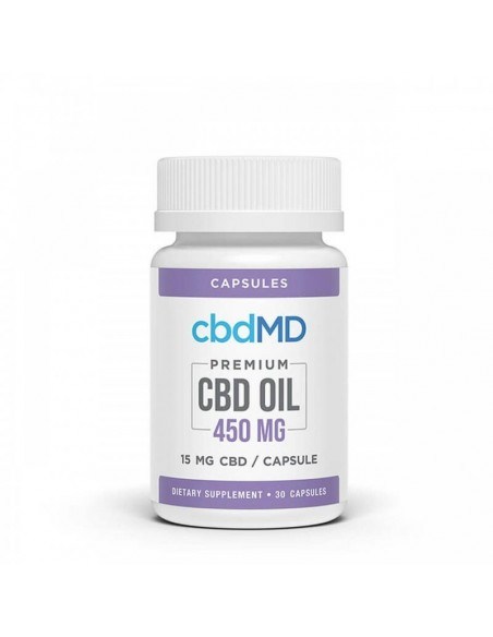 cbdMD CBD Capsules 30 Count 450mg 1pcs:0 US