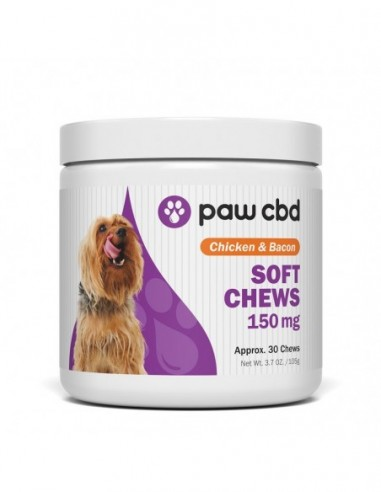 cbdMD Paw CBD Pet CBD Calming Soft Chews for Dogs 30 Count 150mg 1pcs:0 US