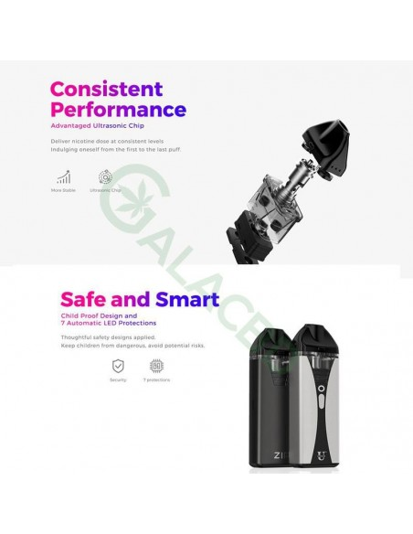 Usonicig Zip 2in1 Starter Kit For Nic-Salt/THC/CBD Oil 1200mAh 10