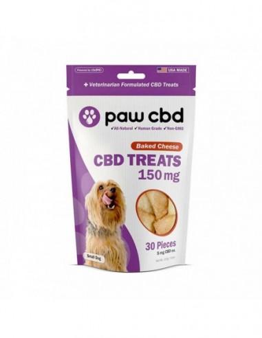 cbdMD Paw CBD Pet Edible CBD Dog Treats Baked Cheese 30 Pieces 150mg 1pcs:0 US