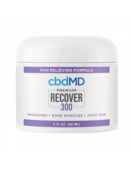 cbdMD Topical CBD Recover Inflammation Cream 2oz Tub 300mg 1pcs:0 US