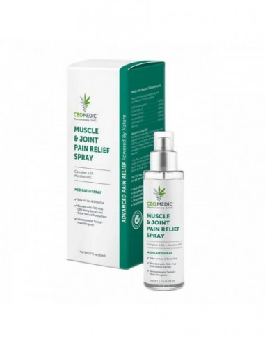 CBDMEDIC Topical CBD Muscle & Joint Pain Relief Spray 1.7oz 200mg 1pcs:0 US