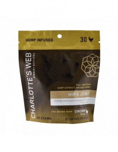 Charlotte's Web Pet CBD Edible Hip & Joint Chews 30 Count 75mg 1pcs:0 US