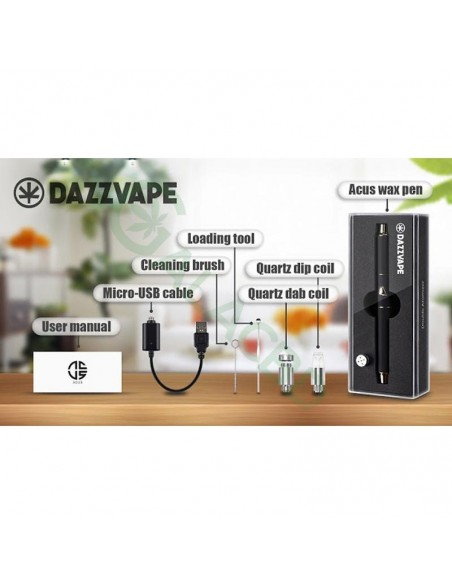 Dazzvape Acus Wax Vaporizer/Dab Pen Kit For Concentrate 350mAh 1