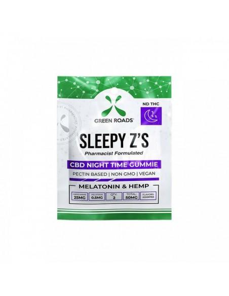 Green Roads Edible CBD Gummies SLEEPY Z'S 2 Count 50mg 1pcs:0 US