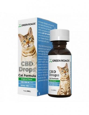 Green Roads Pet CBD Drops Cat Formula Original 30ml 60mg 4pcs:0 US