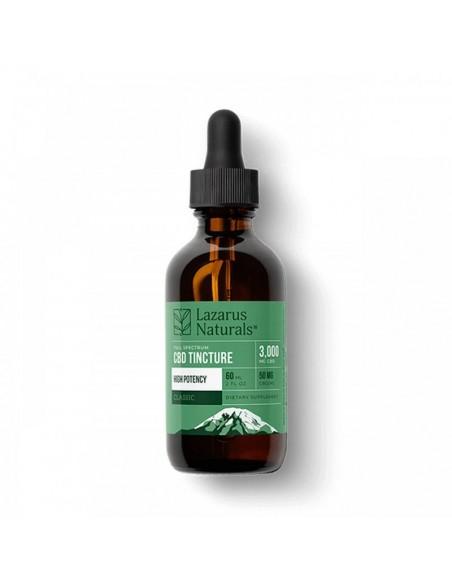Lazarus Naturals CBD Tincture Full Spectrum Classic High Potency 60ml 3000mg 1pcs:0 US