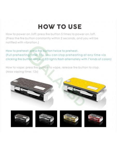 VAPMOD ROCK 710 Mod Kit 510 Thread Battery For CBD Oil/THC/Wax 650mAh 6