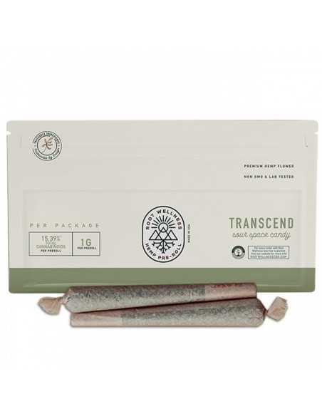 Root Wellness Hemp Flower Pre-Roll Transcend 1g 15.39% of CBD 1pcs:0 US