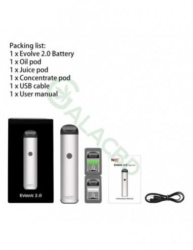 Yocan Evolve 2 0 AIO Pod System Kit For CBD Oil/Wax/E-juice 650mAh