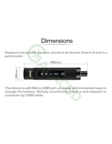 Yocan iShred Dry Herb Vaporizer For Weed/Tobacco 2600mAh 8