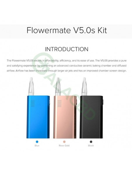 Flowermate V5.0s 3in1 Dry Herb Vaporizer For Weed/Wax/CBD Oil 2600mAh 2