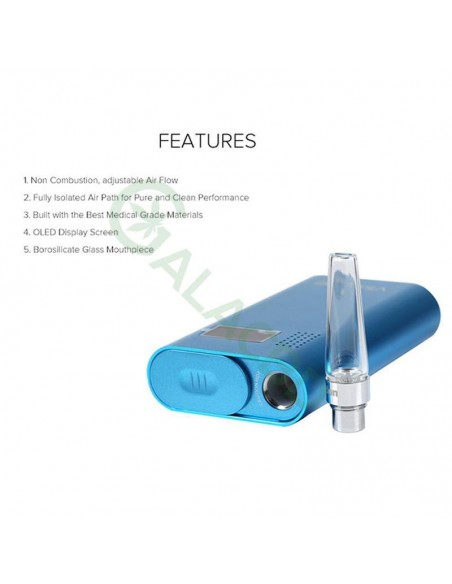 Flowermate V5.0s Pro 3in1 Dry Herb Vaporizer For Weed/Wax/CBD Oil 2600mAh 4