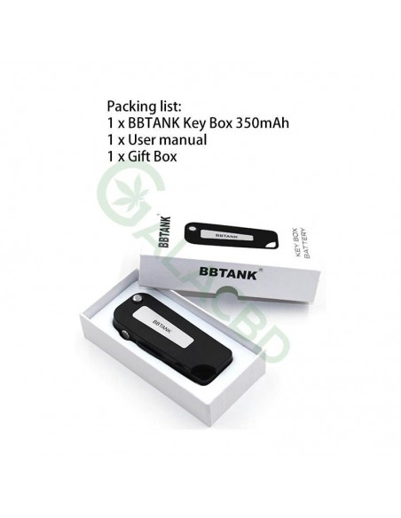 BBTANK Key Pod Box 510 Thread Battery For CBD Oil/THC/Wax 350mAh 1
