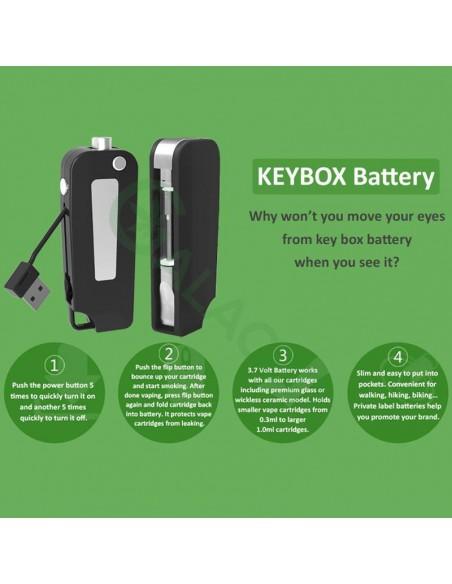 BBTANK Key Pod Box 510 Thread Battery For CBD Oil/THC/Wax 350mAh 3