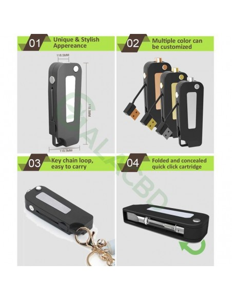 BBTANK Key Pod Box 510 Thread Battery For CBD Oil/THC/Wax 350mAh 4