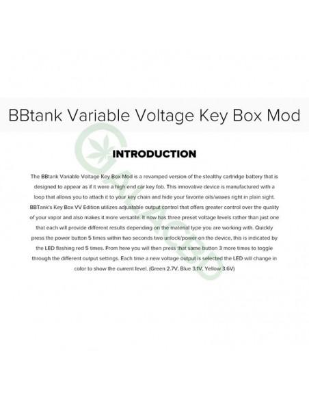 BBTANK Key Box Mod 510 Thread Li-ion Battery Variable Voltage 350mAh 2