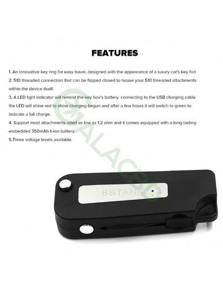 BBTANK Key Box Mod 510 Thread Li-ion Battery Variable Voltage 350mAh 4