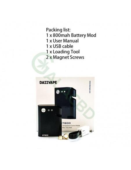 Dazzvape GT800 510 Battery VW/TC Mod For CBD Oil/Wax/Dry Herb 800mAh 1
