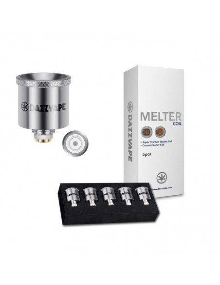 Dazzvape Melter Ceramic Donut Replacement Coil For Wax Vaporizer 0