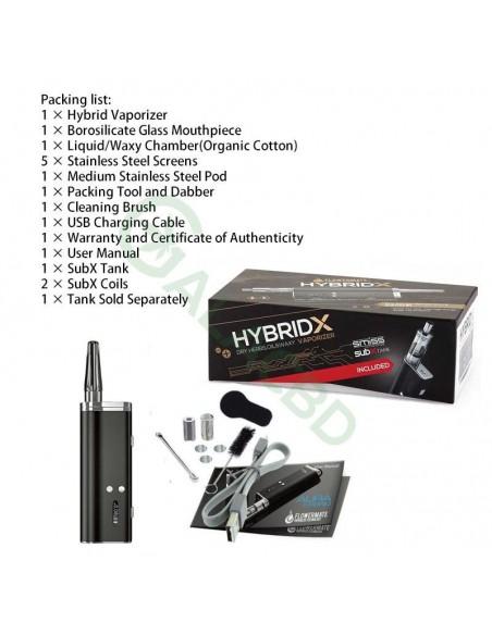 Flowermate Hybrid X 60W TC Dry Herb Vaporizer 510 Thread For Weed/Wax/CBD Oil 1500mAh 1