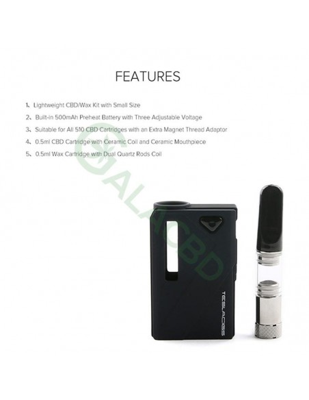Teslacigs Mini Duo 510 Thread Mod Starter Kit For CBD Oil/Wax/THC 500mAh 4