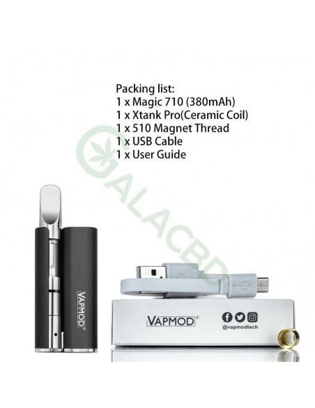 VAPMOD Magic 710 Mod Starter Kit For CBD Oil/THC/Wax 510 Cartridge 380mAh 1