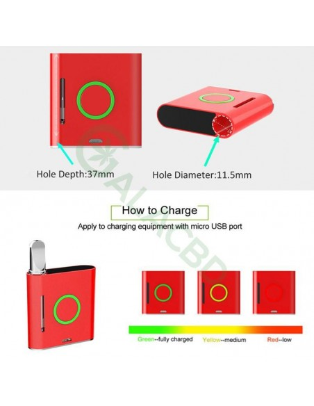 VAPMOD Vmod 510 Thread Battery For CBD Oil/THC/Wax 510 Cartridge 900mAh