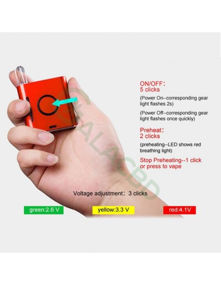 VAPMOD Vmod 510 Thread Battery For CBD Oil/THC/Wax 510 Cartridge 900mAh 4
