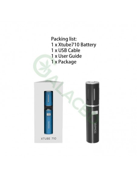 VAPMOD Xtube 710 Pen Battery For CBD Oil/THC/Wax 510 Thread Cartridge 900mAh 1