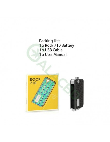 VAPMOD ROCK 710 Mod Battery For CBD Oil/THC/Wax Atomizer 650mAh 1