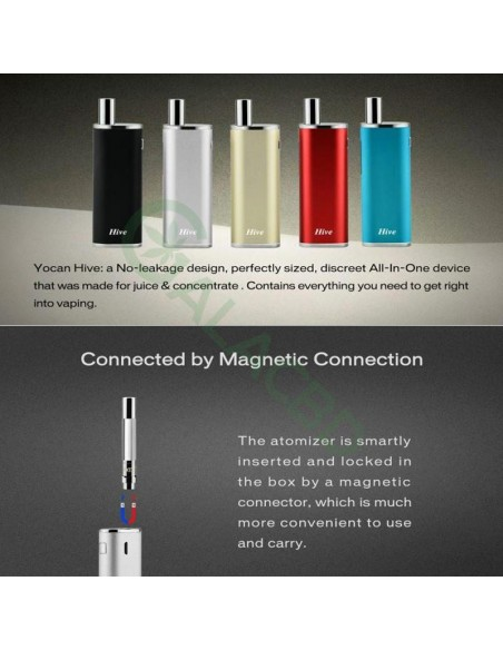 Yocan Hive AIO Mod Starter Kit For CBD Concentrate/E-juice/Oil 650mAh 2