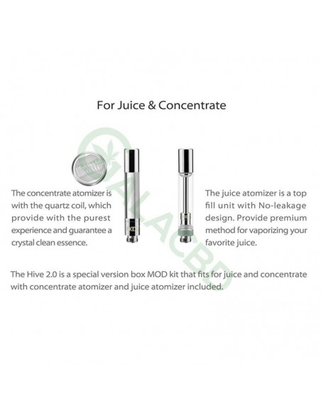 Yocan Hive 2.0 AIO Starter Kit For CBD Concentrate/E-juice/Oil 650mAh 3