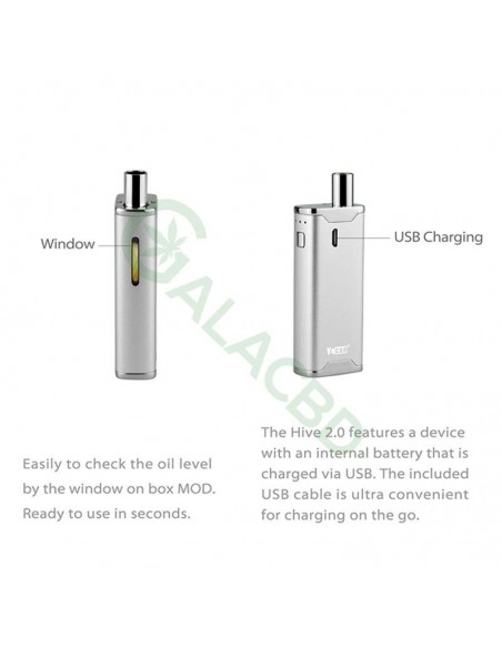 Yocan Hive 2.0 AIO Starter Kit For CBD Concentrate/E-juice/Oil 650mAh 6