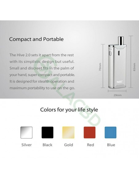 Yocan Hive 2.0 AIO Starter Kit For CBD Concentrate/E-juice/Oil 650mAh 7
