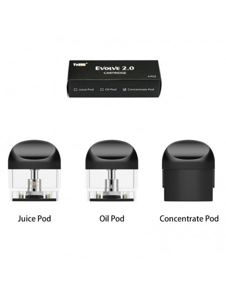 Yocan Evolve 2.0 Pod Cartridge For CBD Oil/E-juice/Concentrate 650mAh 0