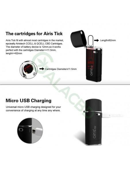Airistech Airis Tick Vaporizer Mod 650mAh For CBD Oil/THC Oil 5