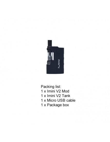 Imini V2 Pro Vape Pen Kit 510 Thread Battery For CBD Oil/THC/Wax 650mAh Black:0 US