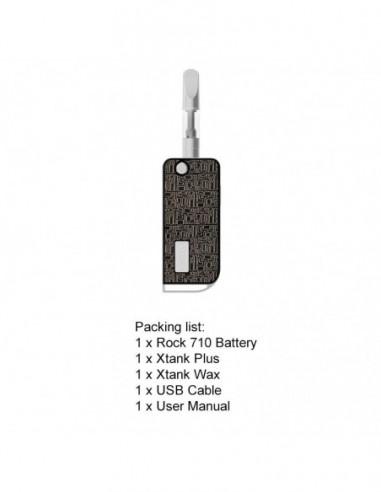 VAPMOD ROCK 710 Mod Kit 510 Thread Battery For CBD Oil/THC/Wax 650mAh Maze Black:0 US
