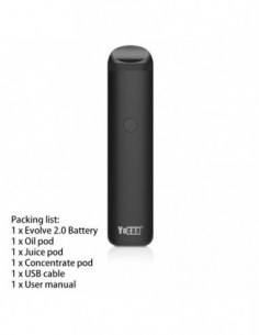 Yocan Evolve 2.0 AIO Pod System Kit For CBD Oil/Wax/E-juice 650mAh