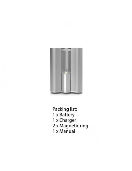 BBTANK Flask 510 Thread Battery For CBD Oil/THC/Wax 200mAh Silver 1pcs:0 US