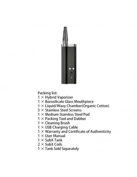 Flowermate Hybrid X 60W TC Dry Herb Vaporizer 510 Thread For Weed/Wax/CBD Oil 1500mAh Black:0 US