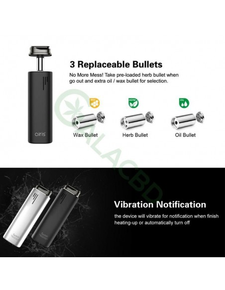Airistech Switch 3in1 Vaporizer For Dry herb/Wax/CBD Oil 2200mAh 3