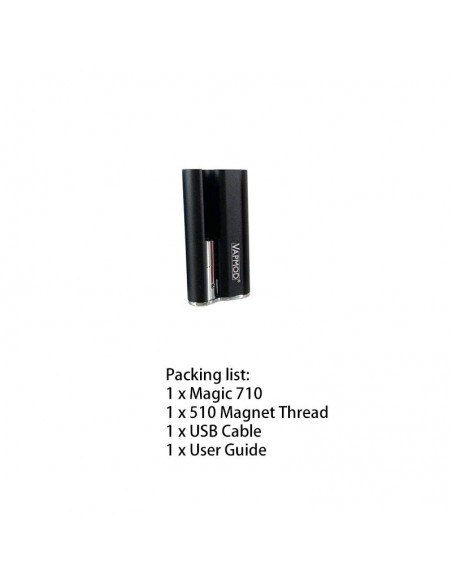 VAPMOD Magic 710 Mod Battery For CBD Oil/THC/Wax 510 Cartridge 380mAh Black:0 US