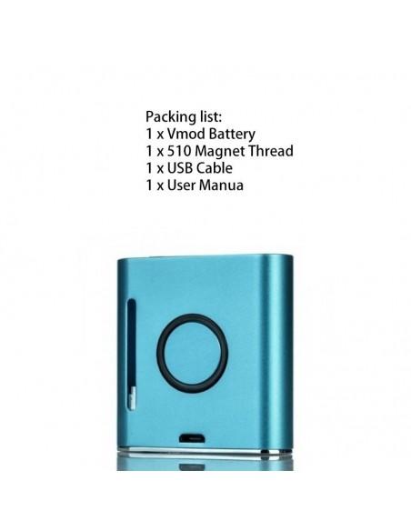 VAPMOD Vmod 510 Thread Battery For CBD Oil/THC/Wax 510 Cartridge 900mAh Blue:0 US