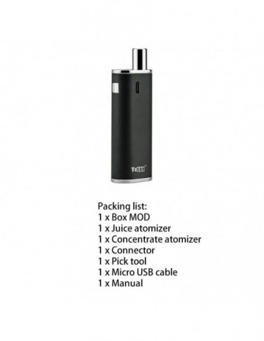 Yocan Hive AIO Mod Starter Kit For CBD Concentrate/E-juice/Oil 650mAh Black:0 US