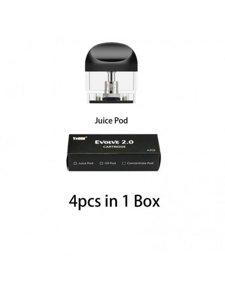 Yocan Evolve 2.0 Pod Cartridge For CBD Oil/E-juice/Concentrate 650mAh Juice Pod 4pcs:0 US